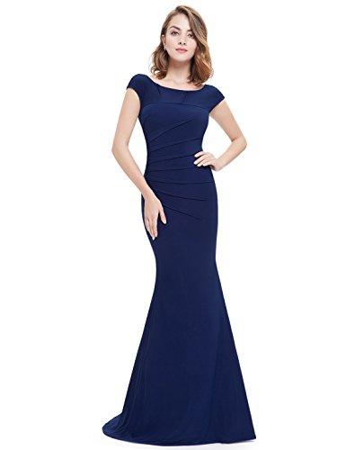 Ever Pretty Robe de soir¨¦e longue du style Fishtail 08483 Bleu Marine