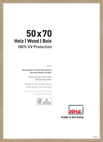 DEHA Holz Bilderrahmen Fontana, 50x70 cm, Eiche