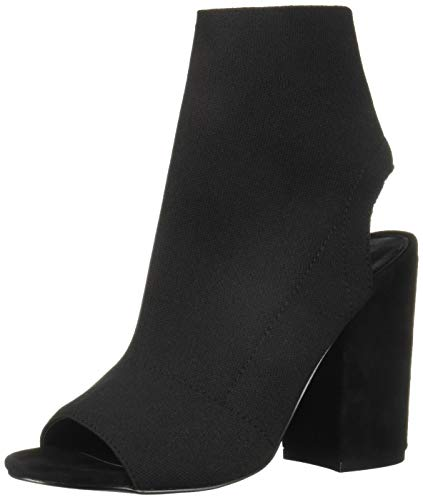 Steve Madden Frauen Ferris Peep Toe Fashion Stiefel Schwarz Groesse 8 US /39 EU -