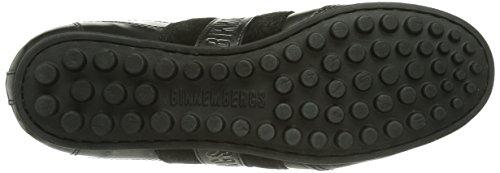 Bikkembergs SOCCER E96SL Jungen Sneakers Grau (METALLIC LEATHER/SUEDE GREY/BLACK EX)