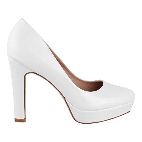 Elara Plateau Pumps | Moderne Damen High Heels | Stiletto Schuhe Weiß Marseille