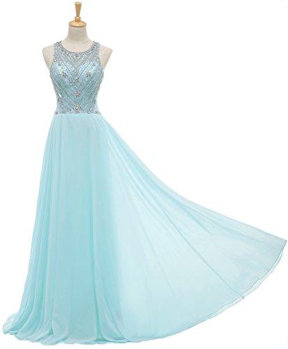 Solovedress Frauen Kappenhülsen Chiffon Perlen Lange Abendkleid Abendkleid Ballkleid Kleid der...