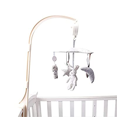 Poetryer Baby Bed Bell Musical Mobile Plush Crib Hang Music Box Intellectual Development, Manual Brain,Rotating Bear Educational Sound mobile Toy,Can Also Be Used As Home Decor