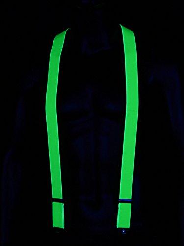 Schwarzlicht Hosenträger Blacklight Party Neon Grün