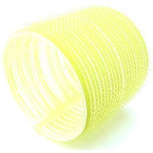 Hair Tools Velcro Cling Hair Rollers - Jumbo Yellow 66 mm x 6 by Hair Tools