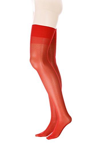 GLAMORY Damen Strapsstrümpfe Perfect 20 DEN, Rot (Rot), XX-Large (Herstellergröße: 2XL-(52-54))