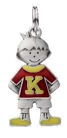 L'Etiquette initiale pour enfants - le Garçon - K