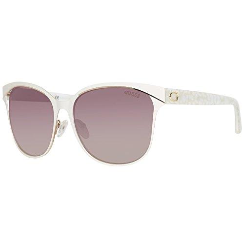 Guess Damen GU7486-5821G Sonnenbrille, Weiß (Blanco), 58