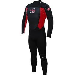 TWF Turbo Bleu - Traje para deportes acuáticos, Multicolor (rojo/Negro), talla L/M