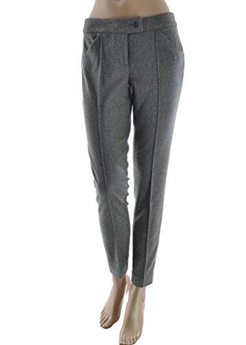 TOY G. pantalone donna flanella stretch - grigio acciaio (44)