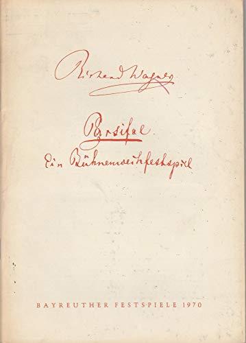 Programmheft VIII Parsifal Bayreuther Festspiele 1970