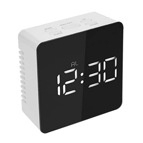 Muium 2019 Nuevo Reloj de Despertador con la luz de Noche Cuadrado Reloj con Multifuncional de la Alarma...