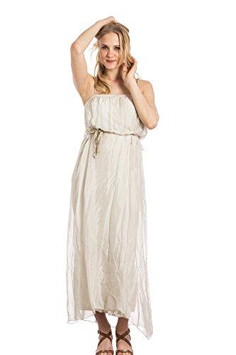 Abbino Luna Vestiti Donne Ragazze – Made in Italy – 3 Colori – Mezza Stagione Primavera Estate Autunno Uni Signore Vestiti Donne Classico Libero Casual Eleganti Saldi Sexy – Taglia Unica