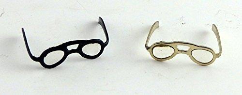 dolls-house-miniatura-accessorio-2-paia-di-occhiali-occhiali-da-lettura-di-oro-nero