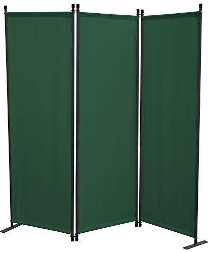GRASEKAMP Qualität seit 1972 Paravent 3 teilig Grün Raumteiler Trennwand Sichtschutz Stellwand