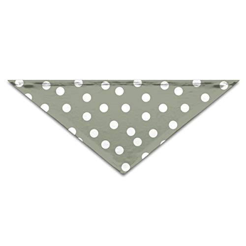 Fun Life Art Dots Polka Dot Spot Green Camo Green Khaki Green Dog Cat Puppy Personalized Collar Bandana,Adjustable Triangle Bibs Scarfs Accessories -