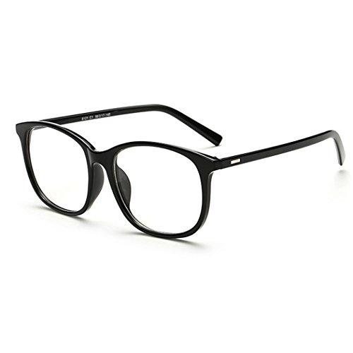 OUTEYE Unisex Brille Nerdbrille Retro Damen Herren Ohne Stärke Klassische Pantobrille Clear Lens