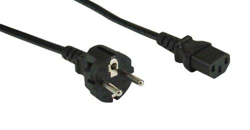 Preisvergleich Produktbild InLine Schutzkontakt gerade auf Kaltgerätestecker C13 NetzKabel (1,8m) schwarz