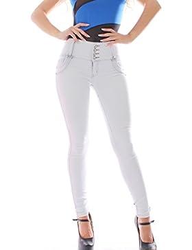 FARINA ®1637 Pantalon vaquero colombiano + 25143-3 Camiseta colombiano color azul con raya negro velo de gasa...