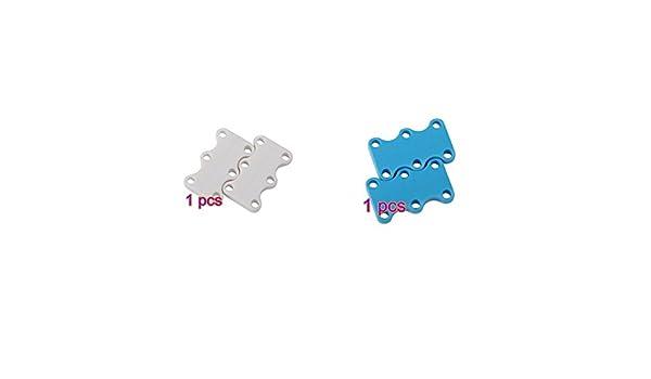 Blau und Wei/ß * 2 Mio.oo Magnetische Schuhverschl/üsse Unisex Schn/üre Nie Wieder Binden