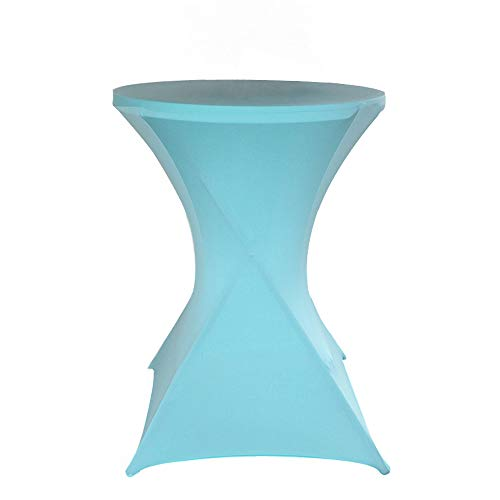 Bettery Cocktail-Tischdecke, elastisch, quadratische Ecken, 81 x 109 cm, Rot 28 x 43 inch Tiffany Blue
