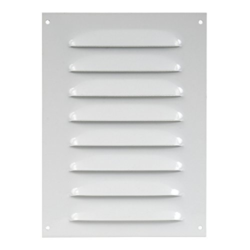 140x190mm Rejilla de ventilación, Sobreponer blanco rectangular fija, metal , mr1419