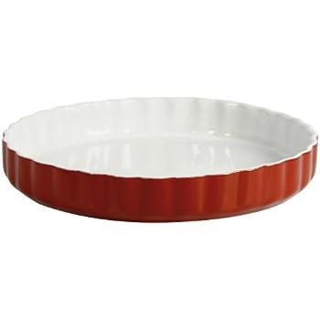 Crealys 512736 Quicheform, Keramik, 28 cm, Taupe: Amazon