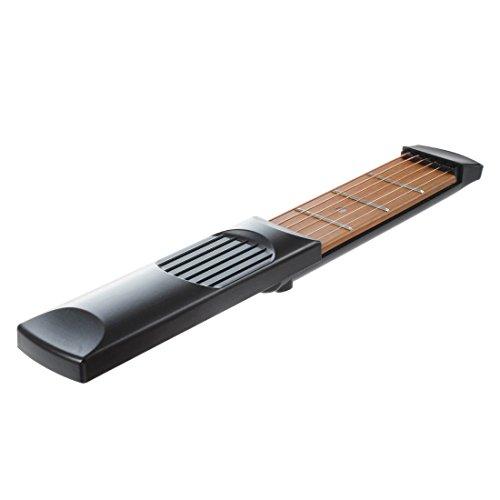 Guitarra de bolsillo - SODIAL(R) Herramienta de practica de guitarra de cuerdas de bolsillo Gadgets Principiante Experto 4 Fret Modelo portatil Negro