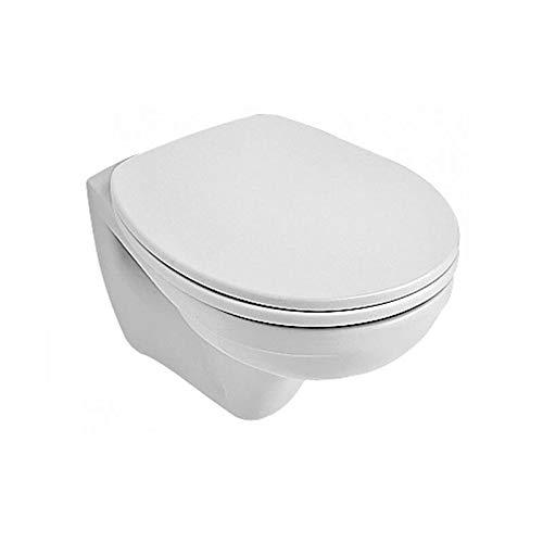 Villeroy & Boch Wand WC (ohne Deckel) Tiefspüler Omnia compact 35x49cm weiß alpIn mit CeramikPlusbeschichtungi, 766710R1