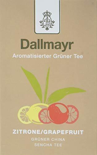 Dallmayr Aromatisierter Grüntee Zitrone Grapefruit, 2er Pack (2 x 100 g) -