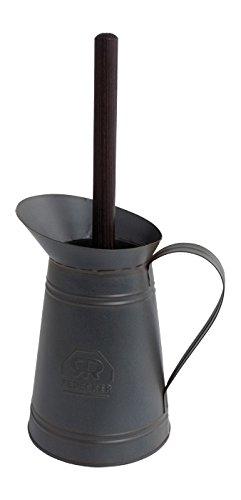 WC Bürste / Klobürste in Metallkanne - schwarz lackiertes Metall