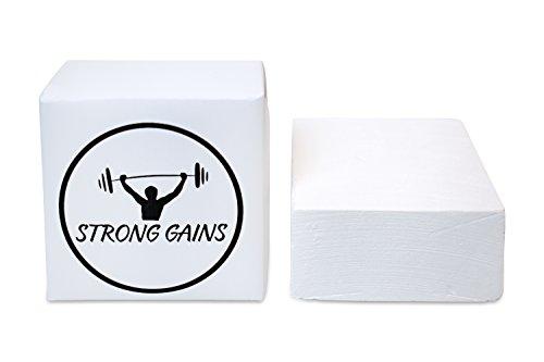 STRONG GAINS 8 Stück Magnesia Block 56 Gr. Gym-Chalk für das Krafttraining, Klettern, Turnen