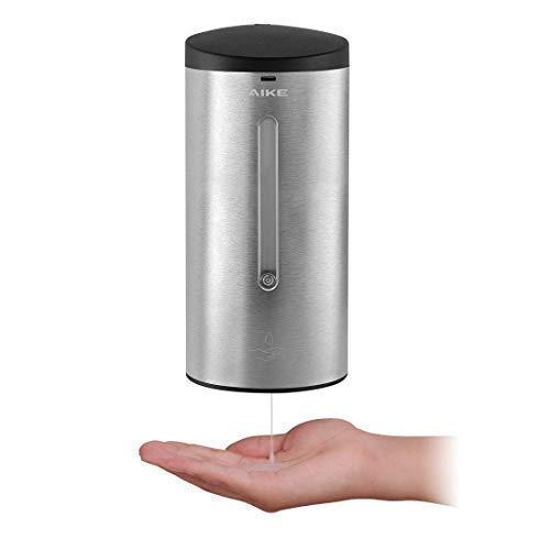 AIKE AK1205 Automatischer Seifenspender Edelstahl Wandmontage mit Infrarot Sensor für Küche und Badezimmer, Große 700 ml Einstellbar, Gebürstet