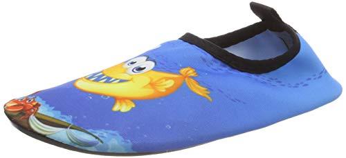 IceUnicorn Kinder Strandschuhe Jungen Mädchen Schwimmschuhe Aqua Schuhe Baby Badeschuhe für Beach Pool Surfen Yoga Unisex(Bubble Fisch,26/27EU)