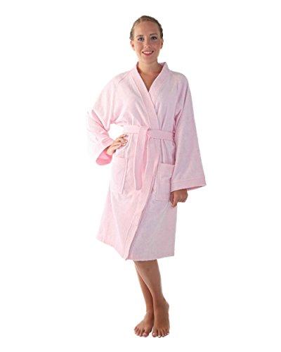 Arus Albornoz Kimono para Mujer, Rosa, L/XL