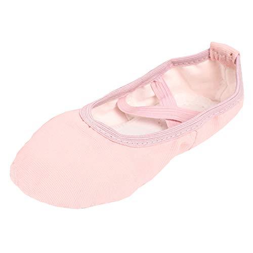 Ballettschläppchen Mädchen Ballerinas Tanzschuhe Damen Ballettschuhe Kinder Ballett Trainings Schläppchen Schuhe Hellrosa Größe 32