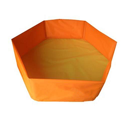 chwimmbad Tragbar Faltbar Schwimmbad Hunde Katzen Baden Wanne Badewanne Wasser Teich Pflegen Waschen Zubehör Für Klein Mittel Groß Haustiere. Cacoffay,Orange ()