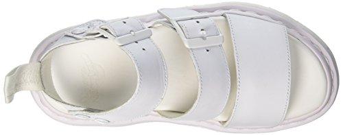 Dr. Martens Gryphon Softyy, Sandali con Cinturino alla Caviglia Unisex – Adulto Bianco