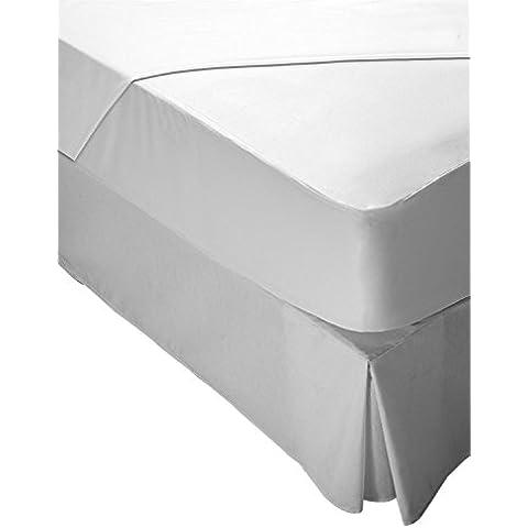 Pikolin Home Hiper-Transpirable - Protector de colchón lyocell, híper-transpirable e impermeable, color Blanco, tamaño