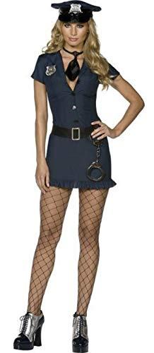 Damen Sexy Fever UNGEZOGEN Polizist-Polizist Uniform WPC Gesetz Vollzug Polizisten & Räuber Hero Helden & Bösewichte Rettungsdienste Kostüm Kleid Outfit - Blau, - Held Und Bösewicht Kostüm