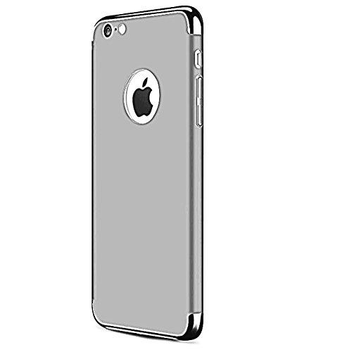 (iPhone 7Fall, ibarbe 3in 1Hybrid dünn und Slim Hart-PC Schutzhülle Halterung beschichtet rutschfeste matt Oberfläche mit Glitzer galvanisiert mit Rahmen Schutz Shell Karte für Apple iphone74,7, 1-Pack iPhone i7 Silver)