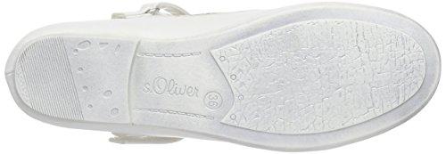 s.Oliver 42800 Mädchen Geschlossene Ballerinas Weiß (WHITE/SILVER 191)