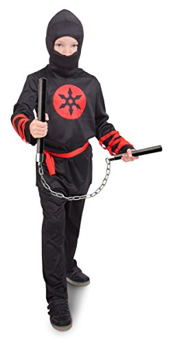 Krieger Kostüm, Jungen, Größe M (Die Jungen Ninja Krieger Kostüme)