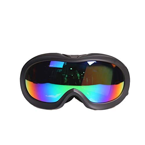 Gnzoe Kinder PC Schneebrille Schutzbrillen Anti-Beschlag Snowboardbrille (Cocker Myopie Brille) Outdoor Schutz Brille Schwarz
