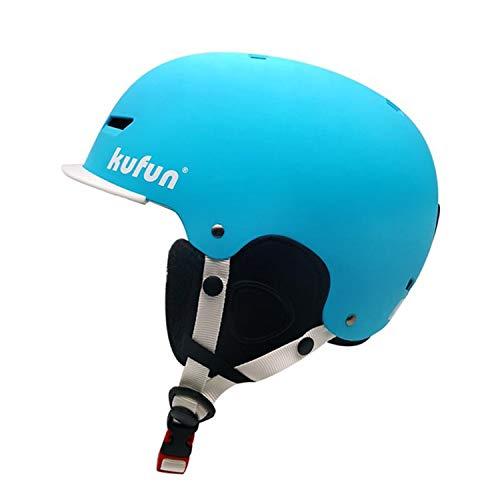 AQUYY Skihelm, Kinder Männliche Und Weibliche Erwachsene Leichte Doppel Furnier Helm Ski Sport Schutzausrüstung Ausrüstung Schneehelm