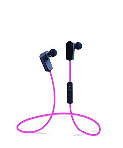 Vinabty Bluetooth V4.1 Sport Running In-Ear Noise-Cancelling Casque stéréo sans fil HIFI écouteur intra-auriculaires pour iPhone Earpod 6/6 plus 5S 5C 5 4 4S Samsung Galaxy Note 3 2 S6 bord S5 S4 S3 Sony Xperia Z3 Z2 Z1 L39H Z L36h Nokia Lumia 920 Blackberry Z10 Google Nexus, PC portable Nook Visual Land Acer Coby Ematic Asus Hisense Supersonic Adesso FileMate LG et tout Deive portable qui avec périphérique Bluetooth (Rose)