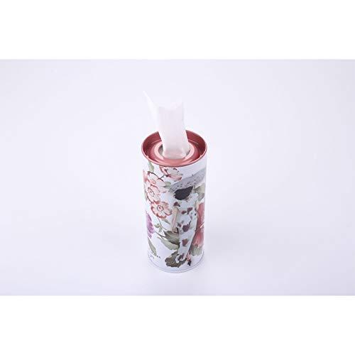 DishyKooker Metall Papier Tube Aluminium Handtuch Tissue Box Elegant Auto zylindrische Tissue Tube Cheongsam, Blume