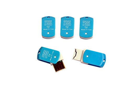 TF-T306 USB Single Card Reader for TF, M2, Micro SD, T-Flash Memory Cards - Pack of 5 Pcs Only from M.P.Enterprises