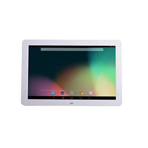 NINI Marco De Fotos Digital 12 Inch Widescreen HD Inteligente Android Edición Online Publicidad Maquina Electronic Album Blanco Y Negro,White