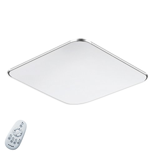 36W Dimmbar LED Modern Deckenlampe Ultraslim Deckenleuchte Schlafzimmer Küche Flur Wohnzimmer Lampe Wandleuchte Energie Sparen Licht Silber (36W Silber Dimmbar)